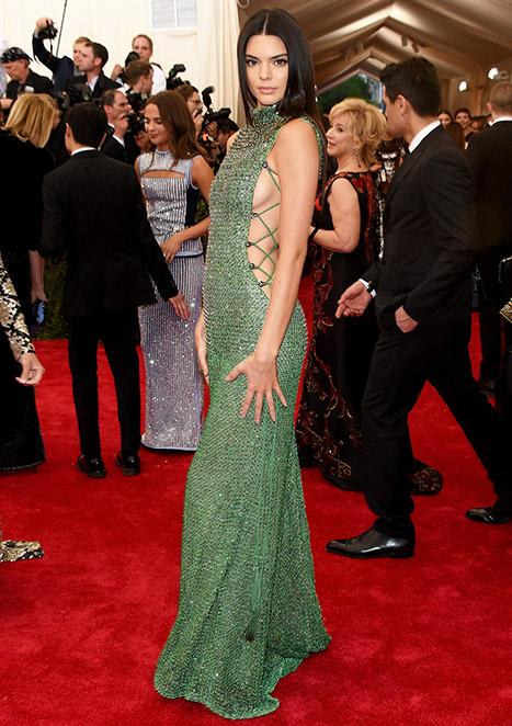 Kendall Jenner Flashes Sideboob in Super-Sexy Beaded Gown at Met Gala 2015