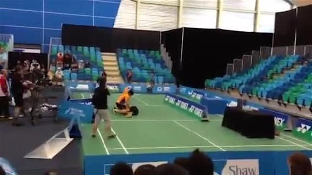 0722 - Badminton stars in fistfight during Canada Open final