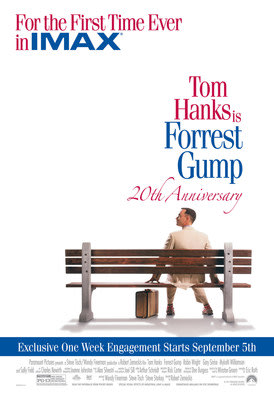 Forrest Gump Celebrates 20th Anniversary With Exclusive One-Week IMAX® Release On Sept. 5
