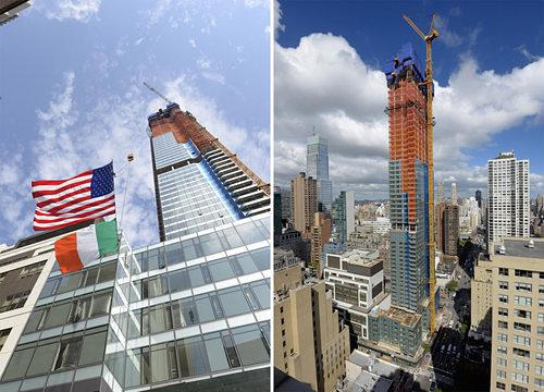 Midtown East's Undulating 700-Foot Glass Tower Tops Out