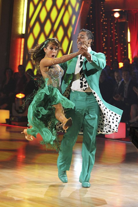 Cheryl Burke and Rick Fox perform on &quot;Dancing with the Stars.&quot; 