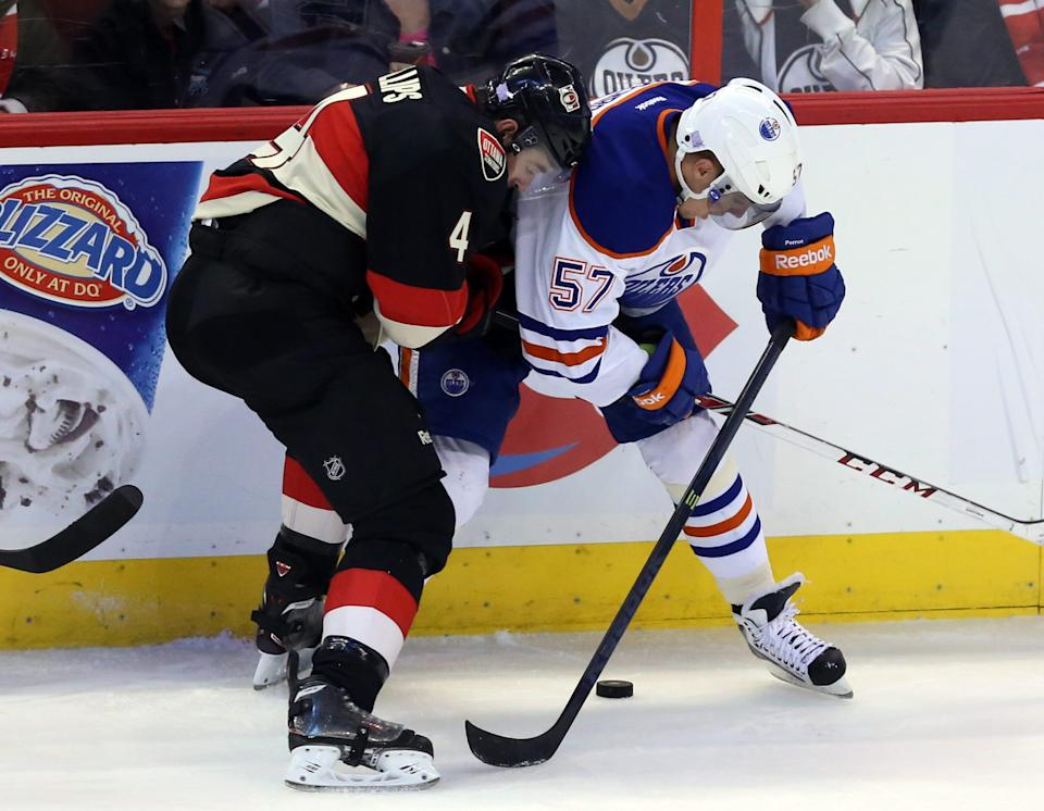 Nugent-Hopkins scores 2 in Oilers' win over Sens