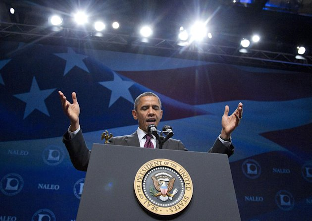 President Barack Obama speaks at The National Association of Latino Elected and Appointed Officials Annual Conference at the Walt Disney World Resort, Friday, June 22, 2012, in Lake Buena Vista, Fla.