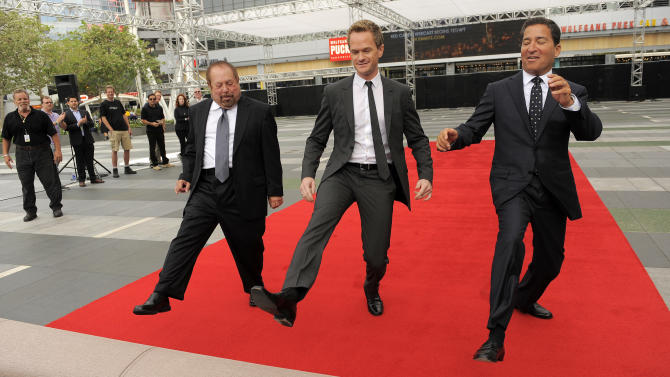 Neil Patrick Harris rolls out Emmys red carpet