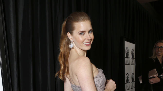 Amy Adams attends the LA Film Critics Association Awards at the InterContinental Hotel on Saturday, Jan. 12, 2013, in Los Angeles. (Photo by Todd Williamson/Invision/AP)