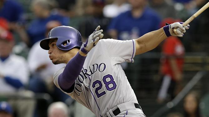 Rangers rebound for 5-0 win over Rockies
