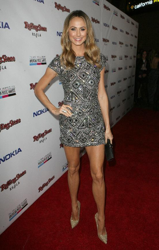 Stacy Keibler arrives at the Rolling Stone American Music Awards After Party, on Sunday, Nov. 18, 2012 in Los Angeles. (Photo by Casey Rodgers/Invision for Nokia/AP Images) **Please include any additional event details in the second sentence of the caption.