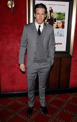 Premiere: Ryan Reynolds at the New York City premiere of Universal Pictures' Definitely, Maybe
