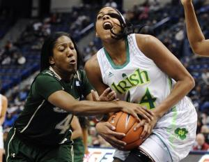 No. 2 Irish women hold off South Florida 75-66