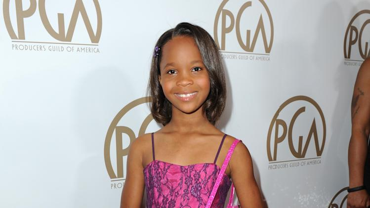 IMAGE DISTRIBUTED FOR THE PRODUCERS GUILD - Quvenzhane Wallis arrives at the 24th Annual Producers Guild (PGA) Awards at the Beverly Hilton Hotel on Saturday Jan. 26, 2013, in Beverly Hills, Calif. (Photo by Jordan Strauss/Invision for The Producers Guild/AP Images)