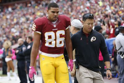 Jordan Reed sits Wednesday, remains highly questionable for Washington, fantasy owners
