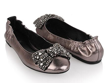 Crystal Bow Embellished Flats