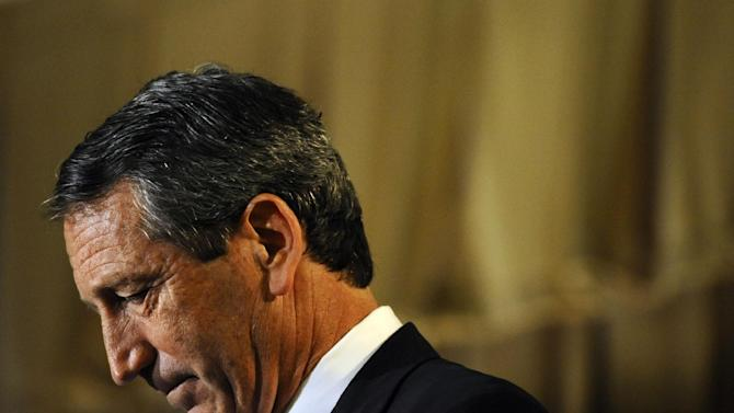 Former South Carolina Gov. Mark Sanford reacts during the 1st Congressional District debate on Monday, April 29, 2013 in Charleston S.C. (AP Photo/Rainier Ehrhardt)