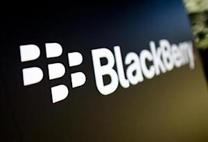A Blackberry logo is seen at the Blackberry campus in Waterloo
