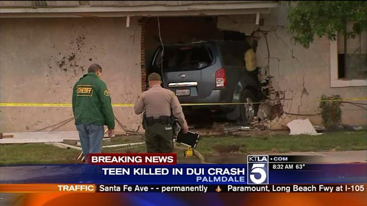 Palmdale Girl, 16, Dies After Suspected DUI Driver Slams Into Her Home