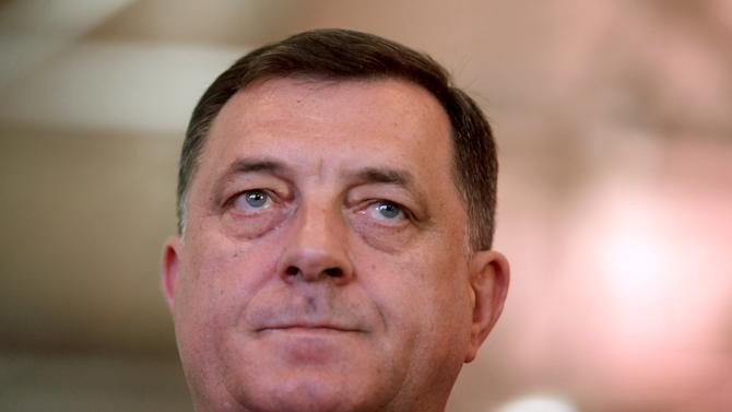 Milorad Dodik, leader of Alliance of Independent Social Democrats party (SNSD), waits for the congress of his party in East Sarajevo