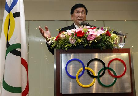 Wu Ching-kuo, an executive board member of the International Olympic Committee, speaks during a news conference in Taipei