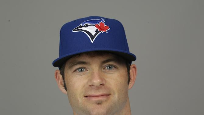 This is a 2015 photo of Matt Hague of the Toronto Blue Jays baseball team. This image reflects the Toronto Blue Jays active roster as of Saturday, Feb. 28, 2015, when this image was taken at spring training in Dunedin, Fla. (AP Photo/Lynne Sladky)