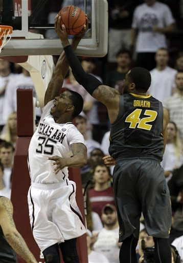 Texas A&M gets 70-68 win over No. 21 Missouri