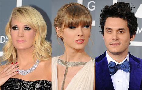 Taylor Swift Disses Carrie Underwood, Avoids Ex John Mayer at Grammys 2013