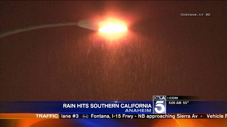 Rain Hits Southern California