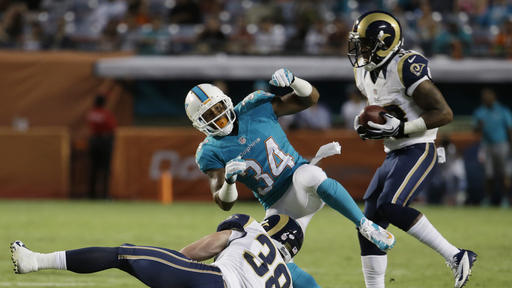 Dolphins top Rams 14-13 in preseason finale
