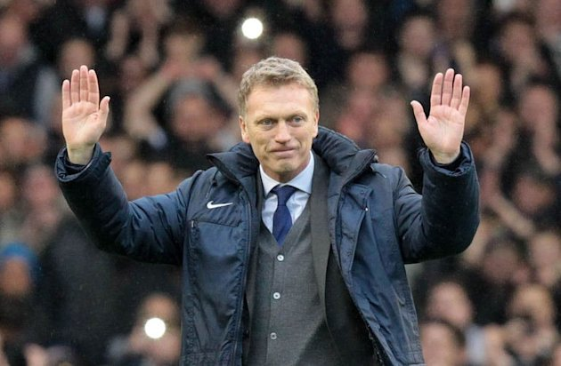 David Moyes waves to Everton fans in Liverpool on May 12, 2013