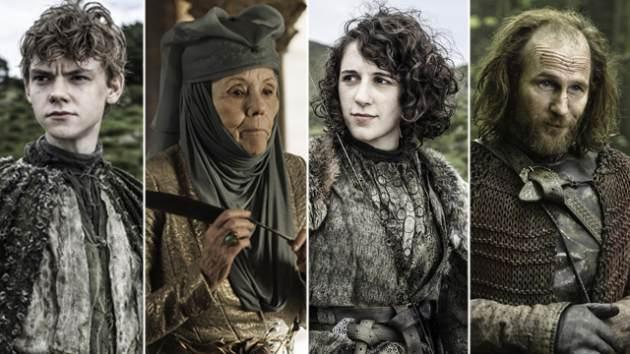 AccessHollywood.com's guide to the new characters in 'Game of Thrones' Season 3, Episode 302 -- Jojen Reed, Lady Olenna, Meera Reed and Thoros of Myr -- Helen Sloan/HBO