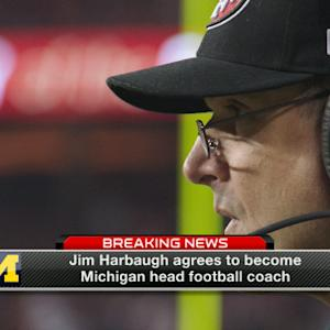 Jim Harbaugh agrees to become head coach at the University of Michigan