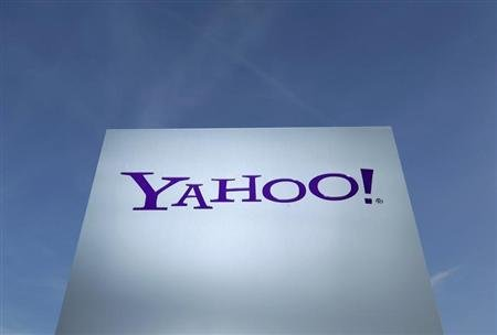 A Yahoo logo is pictured in Rolle