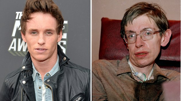 Eddie Redmayne, left, is set to play Stephen Hawking