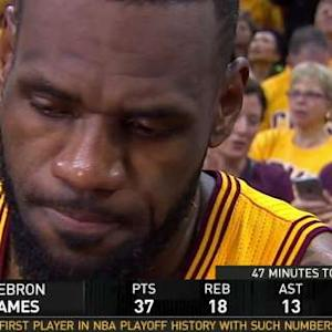 LeBron James Interview On Court