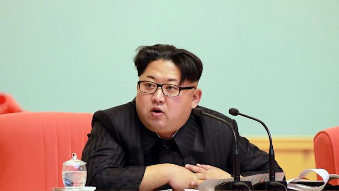 North Korean leader Kim Jong-Un attends an enlarged joint meeting of the Central Committee of the Workers' Party of Korea