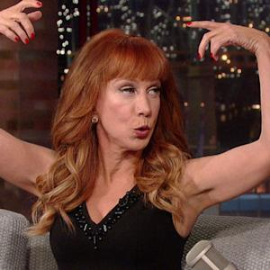 Kathy Griffin Shows Off Her Butt Crack - David Letterman
