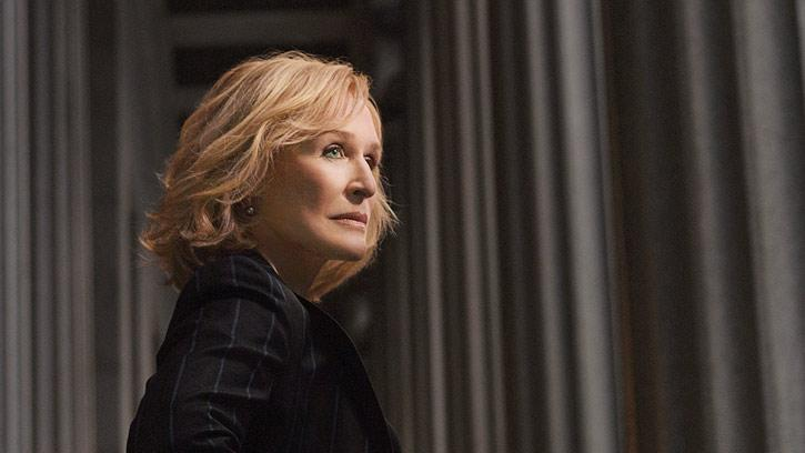 "Glenn Close stars as Patty Hewes in ""Damages."""