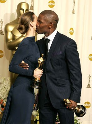 Hilary Swank and Jamie Foxx Best Actress - Million Dollar Baby Best Actor - Ray 77th Annual Academy Awards - Press Room Hollywood, CA - 2/27/05