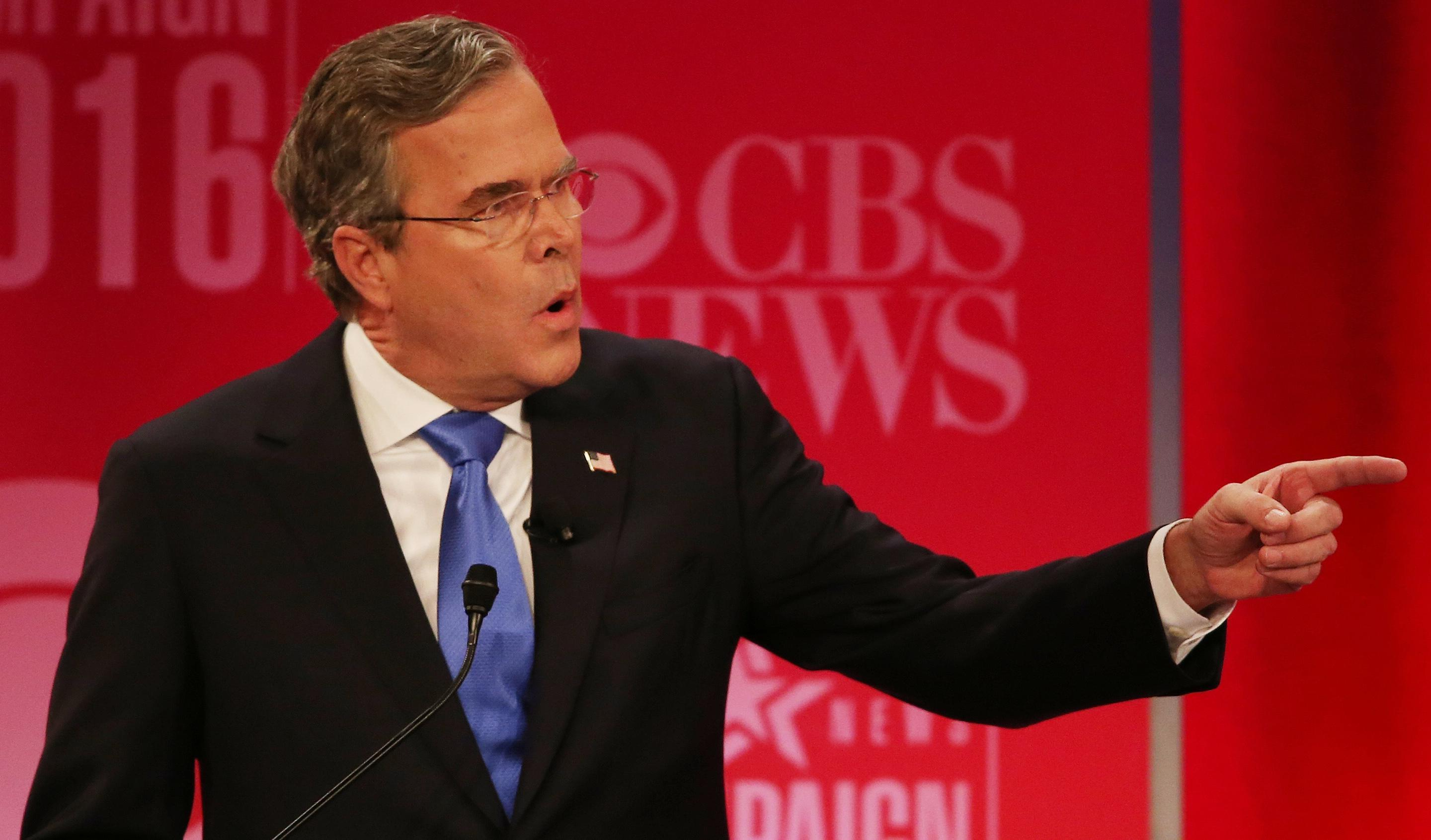 Jeb Bush calls Donald Trump 'really weak'