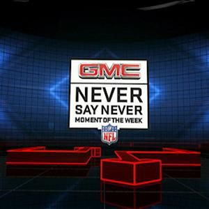 Week 14: GMC Never Say Never Moment winner