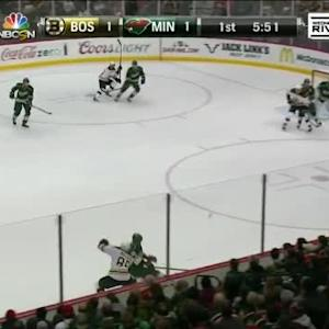Niklas Backstrom Save on Milan Lucic (14:17/1st)