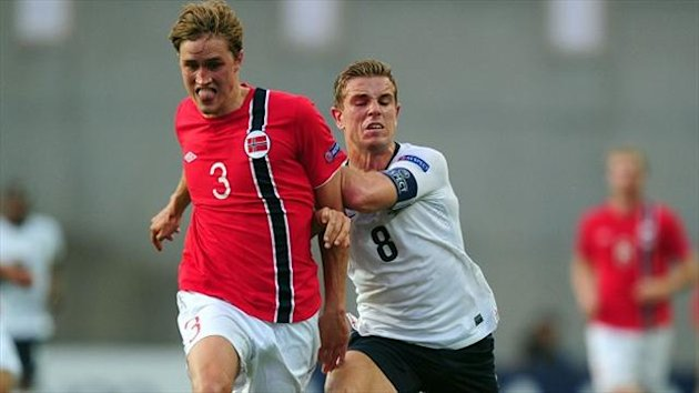 Thomas Rogne, left, was part of the Norway Under-21 side that defeated England