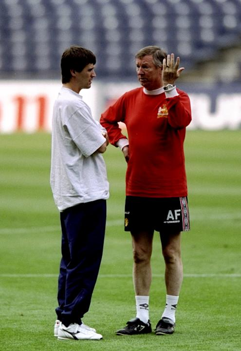 Alex Ferguson and Roy Keane