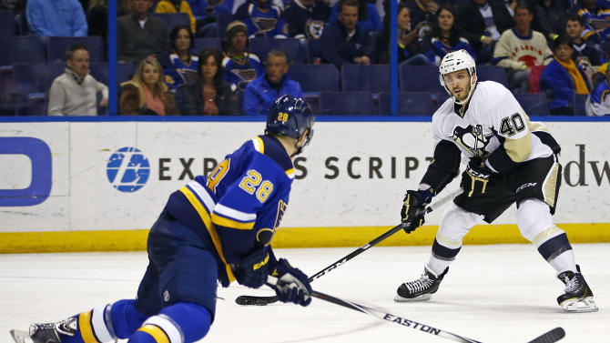 Pens pick up Blues' Cole, bring back Lovejoy