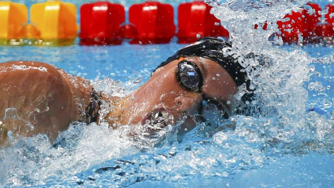 Heemskerk of the Netherlands competes in the women's 200m freestyle preliminaries at the Aquatics World Championships in Kazan
