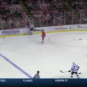 Jimmy Howard Save on Robyn Regehr (00:41/1st)