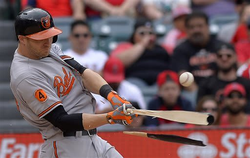 Homers by Hardy, Machado help O's beat Angels 8-4