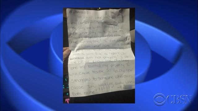 Neighbor leaves cruel note on amputee's car