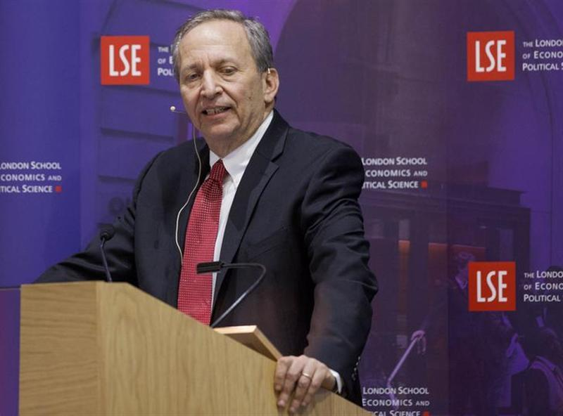 "Former U.S. Treasury Secretary Lawrence H. ""Larry"" Summers speaks during a financial and economic event at the London School of Economics (LSE) in London March 25, 2013. REUTERS/Jason Alden/POOL/Files"