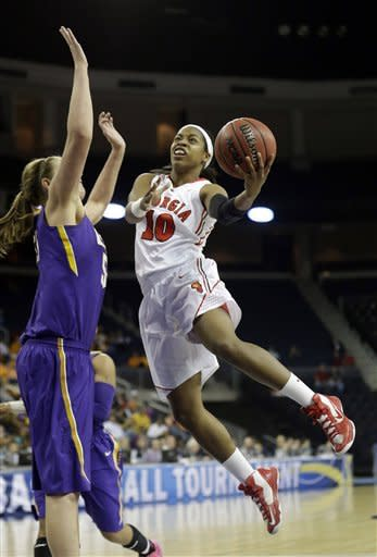 Hassell, No. 12 Georgia women top No. 22 LSU 71-53