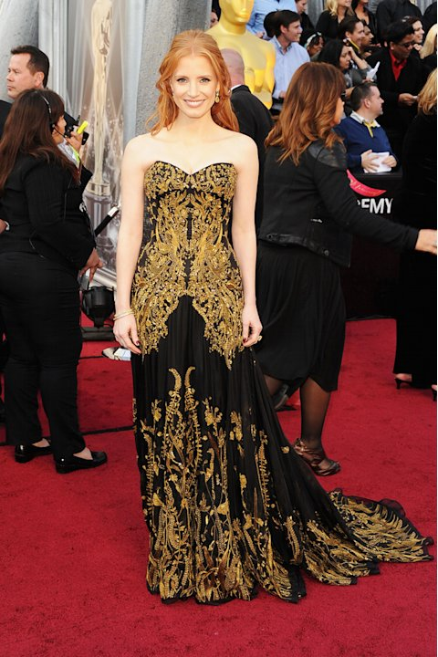 2012 Oscar Arrivals Jessica Chastain