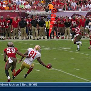 San Francisco 49ers wide receiver Anquan Boldin one-handed grab